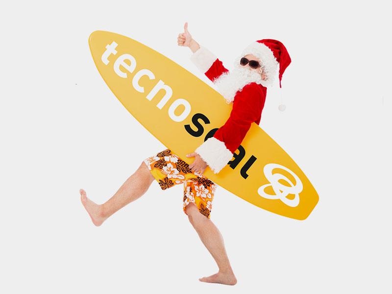 Weihnachtsmann Surfbrett